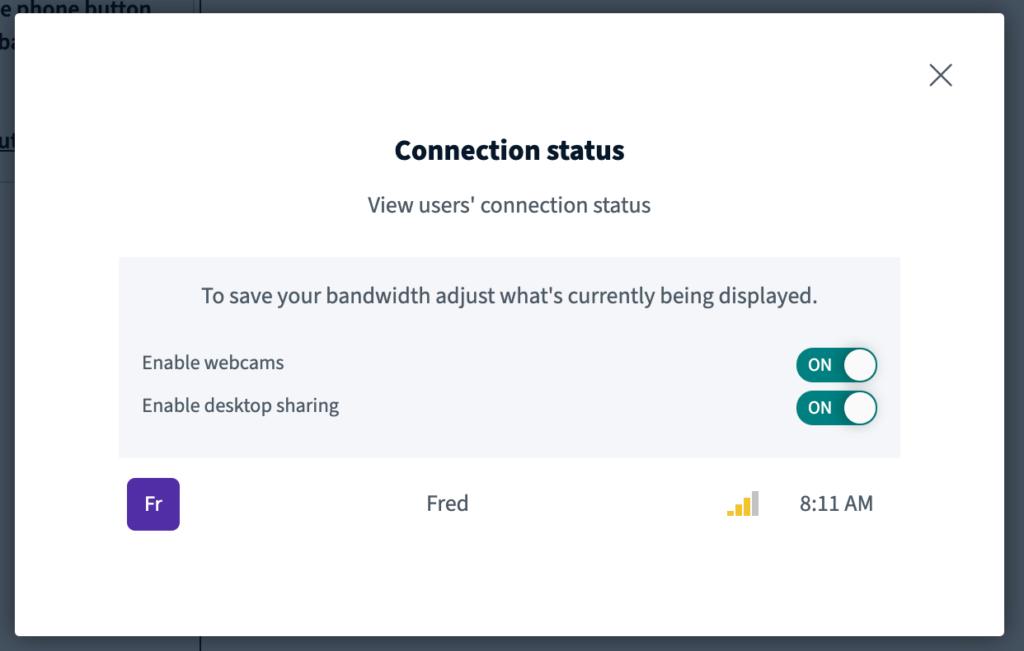 WebMeeting regulace signálu během online setkání